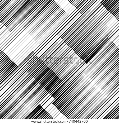 Seamless pattern with speed lines.Triangles  unusual poster Design .repeating , diagonal, slanting, oblique Black Vector stripes .Geometric shape. Endless texture