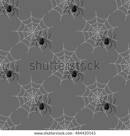 Seamless pattern with spider web on Halloween.