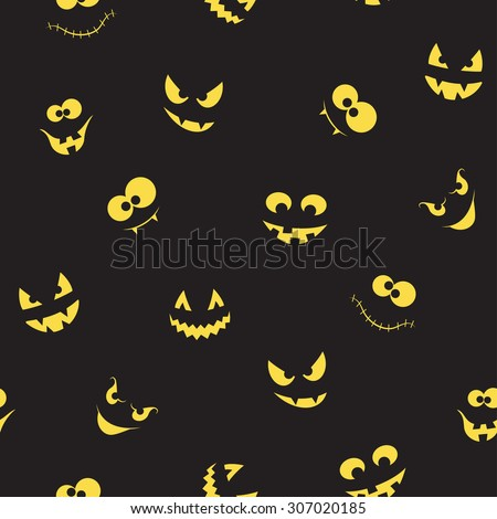 seamless pattern with spooky