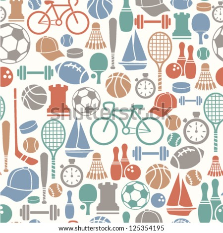 seamless pattern with sport