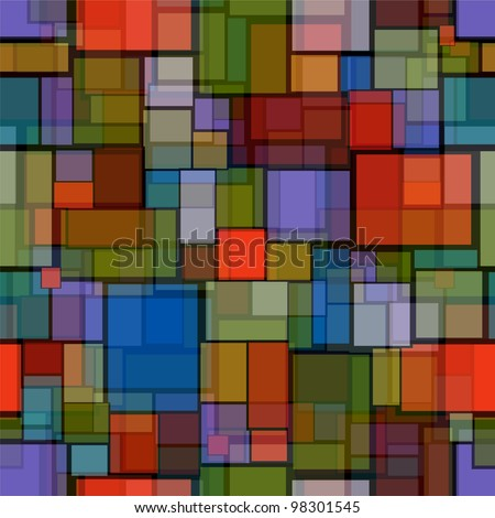 seamless pattern with stained glass imitation - stock vector