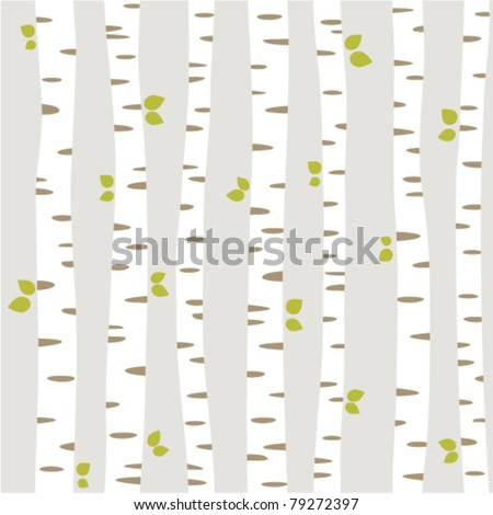 seamless pattern with summer forest - stock vector