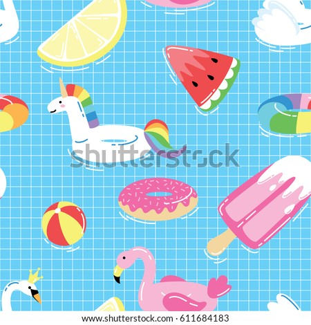 seamless pattern with summer
