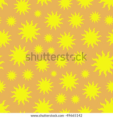 Seamless pattern with sun. Vector illustration.