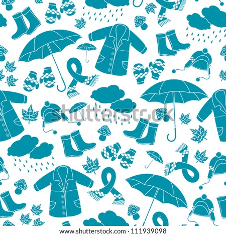 seamless pattern with symbols of autumn (JPEG available in my gallery)