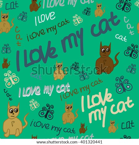 seamless pattern with text i