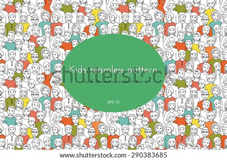 seamless pattern with the image