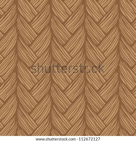 Seamless pattern with tresses