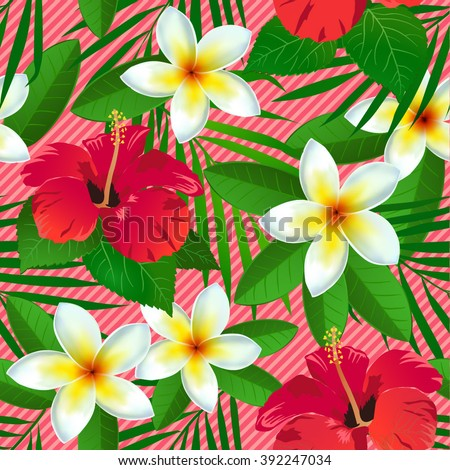 seamless pattern with tropical