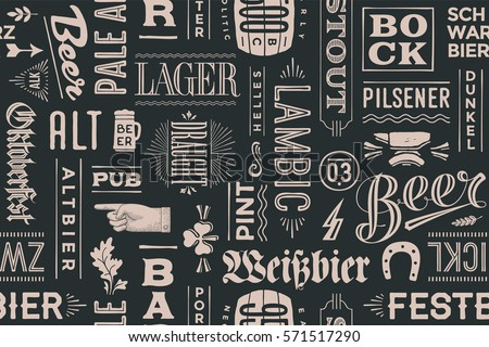 seamless pattern with types of