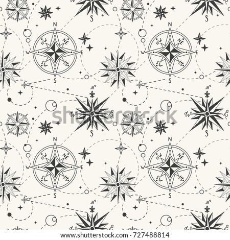 seamless pattern with vintage