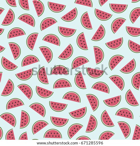 seamless pattern with watermelon ornament