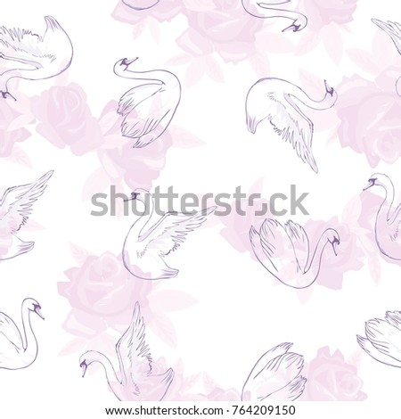 seamless pattern with white