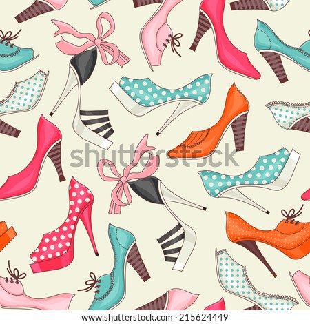 seamless pattern with women's