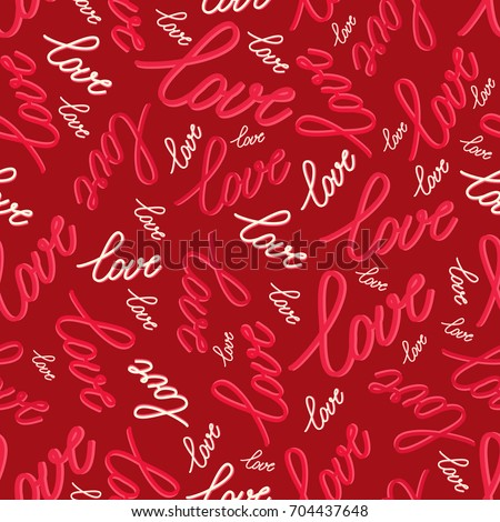 seamless pattern with word love