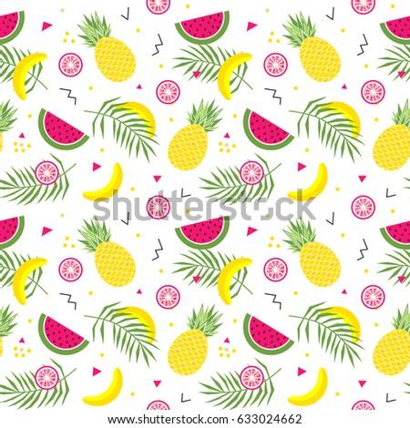seamless pattern with yellow