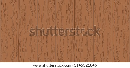 Wood Texture. Brown Color. Simple Cartoon Wooden Planks. Summer Background
