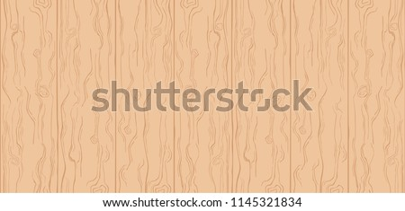 Wood Texture. Light Brown Color. Simple Cartoon Wooden Planks. Summer