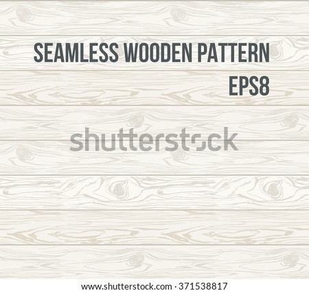 Seamless pattern wood texture, vector Eps 8 illustration. Hand drawn Natural realistic Wooden Background.