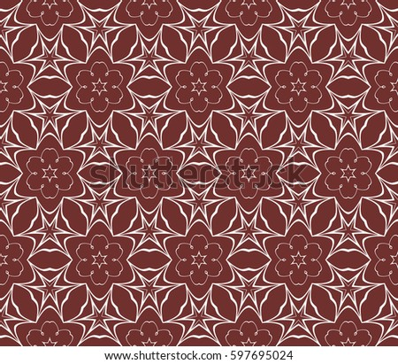 Seamless Patterns Abstract Floral Geometric Texture Ornament For