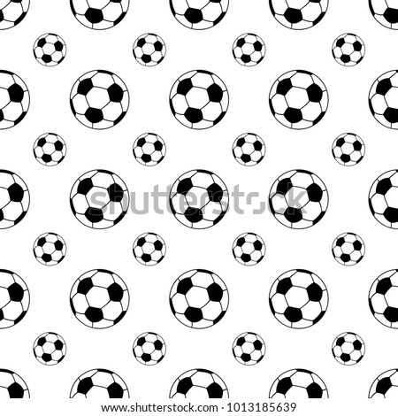 Seamless patterns from a soccer ball. Black and white. Vector illustration.