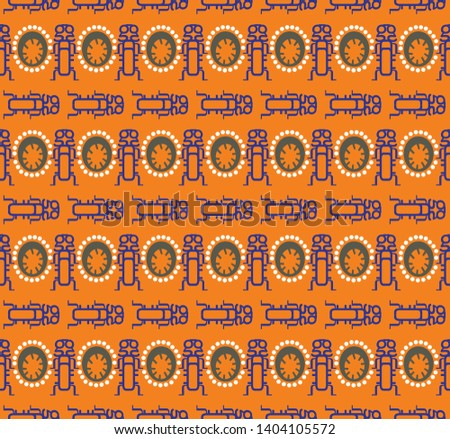 Seamless patterns of abstract decorative elements. Decorative elements of abstract reptiles