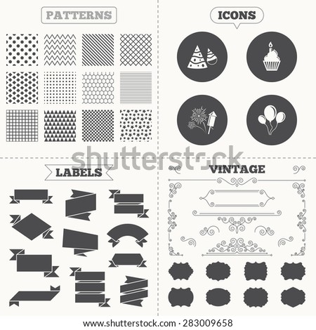 seamless patterns sale tags