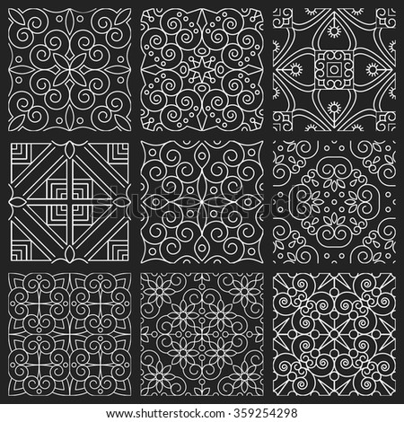 seamless patterns vintage