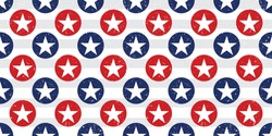 Seamless patterns with American Stars, Pattern with USA flag symbols. Vector illustration