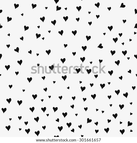 Seamless patterns with black hearts. Seamless background with hearts. Valentine's Day. Gift wrap, print, cloth, cute background for a card. Star sky.