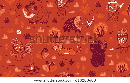 seamless patterns with cartoon