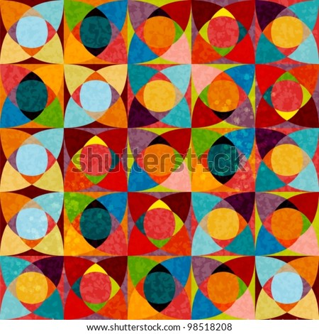 seamless patterns with colorful texture, beautiful vector illustration - stock vector