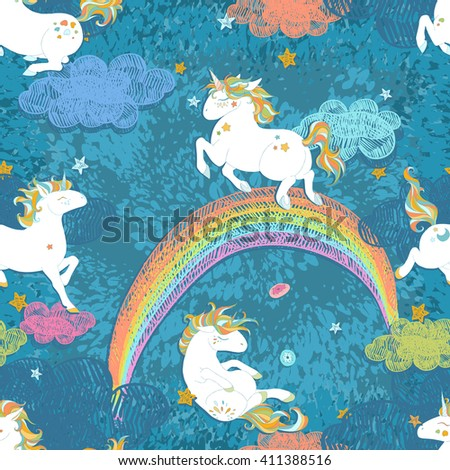 seamless patterns with cute