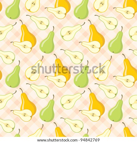 Seamless pears pattern. vector