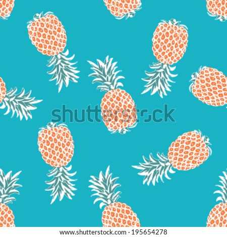 Seamless Pineapple Background Pattern