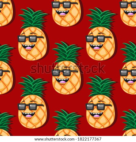 seamless pineapple cartoon