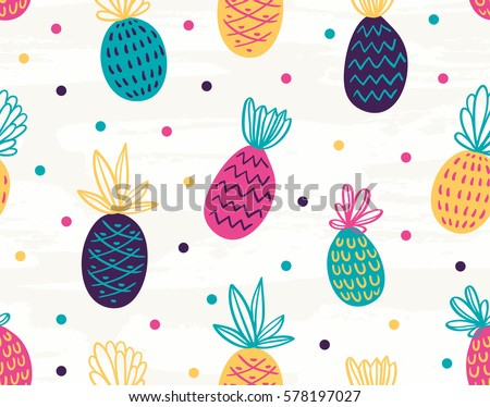 seamless pineapple pattern with