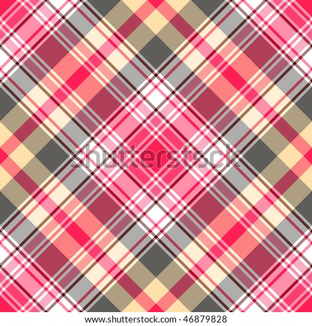 Seamless pink-gray tartan pattern (vector EPS 10)