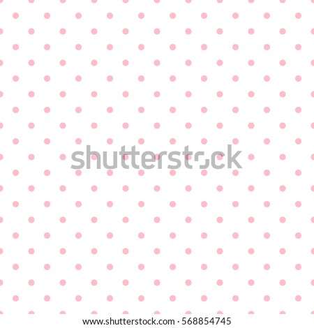 Seamless pink polka dot background. Vector illustration eps 10.