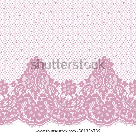 seamless pink vector lace...