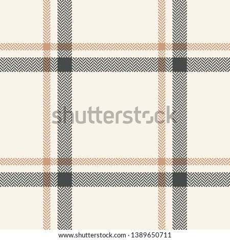 Seamless plaid pattern vector background. Herringbone classic tartan check plaid for scarf, poncho, blanket, coat, jacket, or other fashion textile design.