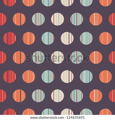 Seamless polka dot pattern background retro texture