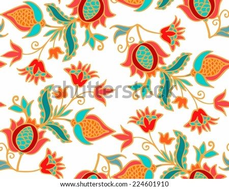 seamless pomegranate pattern