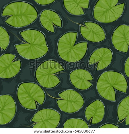 seamless pond texture with lily