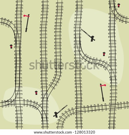 Seamless railroad  Pattern,  background. Seamless pattern can be used for wallpaper, pattern fills, web page background,surface textures. Gorgeous seamless  background