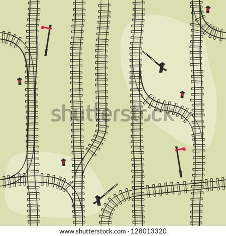 seamless railroad  pattern