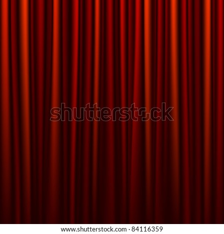 Seamless red curtain. Vector.