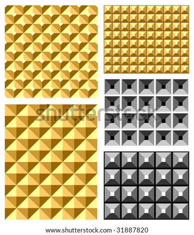 Seamless relief patterns. Vector set.