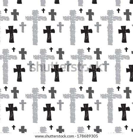 Christian Cross Pattern Seamless religious cross