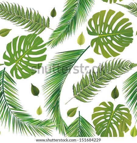seamless repeat leaves